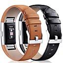 billige Smartwatch Bands-Klokkerem til Fitbit Charge 2 Fitbit Klassisk spenne Lær Håndleddsrem