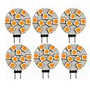 povoljno LED Bi-pin svjetla-SENCART 6kom 1.5 W LED svjetla s dvije iglice 270 lm G4 T 9 LED zrnca SMD 5050 Ukrasno Toplo bijelo 12 V / CE