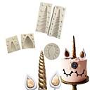 Χαμηλού Κόστους Είδη Ψησίματος-5pcs Σιλικόνη Χριστούγεννα 3D Φτιάξτο Μόνος Σου για κέικ Καλούπια τούρτας Εργαλεία ψησίματος