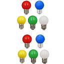 Χαμηλού Κόστους Λάμπες Σφαίρα LED-10pcs 1 W LED Λάμπες Σφαίρα 100 lm E26 / E27 G45 8 LED χάντρες SMD 2835 Διακοσμητικό Άσπρο Κόκκινο Μπλε 220-240 V / RoHs