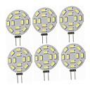 baratos Luzes LED de Dois Pinos-SENCART 6pcs 1.5 W Luminárias de LED  Duplo-Pin 360 lm G4 T 12 Contas LED SMD 5730 Decorativa Branco Quente Branco Frio 12-24 V