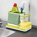 Χαμηλού Κόστους Ράφια & Στγρίγματα-1pc Έπιπλα μαγειρικής Πλαστικά Δημιουργική Κουζίνα Gadget