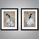 זול אומנות ממוסגרת-הדפסי בד מתוחים עכשווי, שני פנלים בַּד אנכי דפוס דקור קיר קישוט הבית