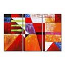 voordelige Abstracte schilderijen-Hang-geschilderd olieverfschilderij Handgeschilderde - Abstract Hedendaags Modern Inclusief Inner Frame / Drie panelen / Uitgerekt canvas