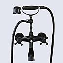 Χαμηλού Κόστους Αντιανεμικά ,Φλις & Μπουφάν Πεζοπορίας-Βρύση Μπανιέρας - Παραδοσιακό Λαδωμένο Μπρούντζινο Μπανιέρα και Ντουζιέρα Κεραμική Βαλβίδα Bath Shower Mixer Taps