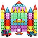 baratos Blocos Magnéticos-Blocos Magnéticos Azulejos magnéticos Blocos de Construir 60-128 pcs Teste padrão geométrico corpo transparente Para Meninos Para Meninas Brinquedos Dom