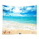 זול שטיחי קיר-נושא חוף ימי קיר תפאורה 100% פוליאסטר עכשווי מודרני וול ארט, קיר שטיחי קיר שֶׁל