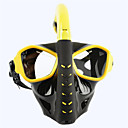 Χαμηλού Κόστους Μάσκες κατάδυσης, αναπνευστήρες και βατραχοπέδιλα-Μάσκα με αναπνευστήρα Κατά της ομίχλης Δύο Παράθυρο - Κολύμβηση PC - Για Ενήλικες Μαύρο / Στεγνή κορυφή