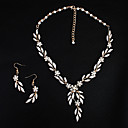 povoljno Komplet nakita-Žene Kristal Komplet nakita Europska Moda Biseri Naušnice Jewelry Zlato Za Vjenčanje Dnevno