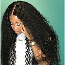 billige Motearmbånd-Ekte hår Ubehandlet Menneskehår Halvblonder uten lim Blonde Forside Parykk Bobfrisyre Lagvis frisyre Med lugg stil Brasiliansk hår Kinky Curly Parykk 130% Hair Tetthet med baby hår Mørke røtter