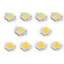Χαμηλού Κόστους LEDs-10pcs 10w υψηλής φωτεινή οδήγησε λαμπτήρα λαμπτήρα dc 9-12v λευκό ζεστό λευκό
