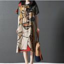 povoljno Darovi u boci-Žene Pamuk Širok kroj Haljina - Print, Color block Do koljena