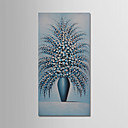 Χαμηλού Κόστους Πίνακες με Λουλούδια/Φυτά-Hang-ζωγραφισμένα ελαιογραφία Ζωγραφισμένα στο χέρι - Νεκρή Φύση Μοντέρνα Περιλαμβάνει εσωτερικό πλαίσιο / Επενδυμένο καμβά