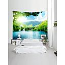 billige Wall Tapestries-Hage Tema Landskap Veggdekor 100% Polyester Moderne Veggkunst, Veggtepper Dekorasjon