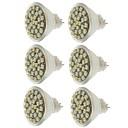 baratos Lâmpadas LED de Foco-SENCART 6pcs 2 W Lâmpadas de Foco de LED 140-180 lm MR11 MR11 30 Contas LED SMD 3528 Decorativa Branco Quente Branco Frio Amarelo 12 V