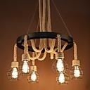 ราคาถูก ไฟเพดาน-6-light คลัสเตอร์เชือกป่านแสงไฟจี้ทาสีเสร็จสิ้นมินิสไตล์ 110-120 โวลต์ / 220-240 โวลต์หลอดไฟไม่รวม / fcc / e26 / e27