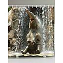 Χαμηλού Κόστους Κουρτίνες Μπάνιου-Κουρτίνες μπάνιου & γάντζοι Σύγχρονο Χώρα Πολυεστέρας Ζώο Μηχανοποίητο Αδιάβροχη