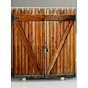 povoljno Svadbeni ukrasi-zavjese za tuš s kukama od rustikalnih drvenih vrata vrata ambalaže od poliestera tkanina vodootporna zavjesa za tuš za kupaonicu