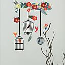 billiga tatuering klistermärken-Dekrativa Väggstickers - Animal Wall Stickers Djur / Blommig / Botanisk Vardagsrum / Sovrum / Badrum / Kan tas bort / Kan ompositioneras