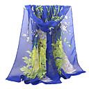 billiga Wraps & halsdukar för kvinnor-Dam Grundläggande Rektangelhalsduk - Polyester / Chiffong Tryck Nät