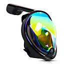 ราคาถูก อุปกรณ์ดำน้ำ-หน้ากากดำน้ำ Full Face Masks หน้าต่างเดียว - การว่ายน้ำ เจลซิลิก้า - สำหรับ ผู้ใหญ่ สีเขียว / 180 Degree / ป้องกันหมอกควัน