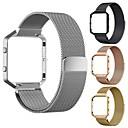 ราคาถูก ตุ้มหู-สายนาฬิกา สำหรับ Fitbit Blaze Fitbit สายสแตนเลส Milanese สแตนเลส สายห้อยข้อมือ