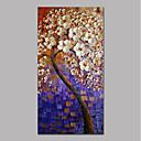 Χαμηλού Κόστους Πίνακες με Λουλούδια/Φυτά-Hang-ζωγραφισμένα ελαιογραφία Ζωγραφισμένα στο χέρι - Αφηρημένο Άνθινο / Βοτανικό Σύγχρονο Μοντέρνα Περιλαμβάνει εσωτερικό πλαίσιο / Επενδυμένο καμβά