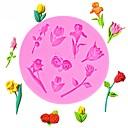 billige Bakeredskap-valentinsdag roser blomster formet fondant silikon kake mold