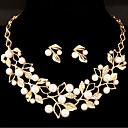 povoljno Komplet nakita-Žene Komplet nakita Leaf Shape Cvijet slatko Imitacija bisera Naušnice Jewelry Zlato / Pink Za Vjenčanje Party