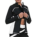 baratos Collants,Shorts,Calças e Calções de Ciclismo-WINNER Jaqueta de Lã Fleece para Patinação Mulheres Patinação no Gelo Jaqueta Branco Azul Céu Roxo Elastano Com Stretch Treino Profissional Competição Roupa para Patinação Riscas Manga Longa