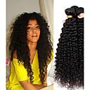 Χαμηλού Κόστους Εξτένσιος μαλλιών με φυσικό χρώμα-4 πακέτα Περουβιανή Kinky Curly Αγνή Τρίχα Υφάνσεις ανθρώπινα μαλλιών Προέκταση Ένα πακέτο Λύση 8-28 inch Φυσικό Χρώμα Υφάνσεις ανθρώπινα μαλλιών Χαριτωμένο Μαλακό Hot Πώληση / Αμεταποίητος / 10A