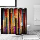 Χαμηλού Κόστους Κουρτίνες Μπάνιου-ντους κουρτίνες με άγκιστρα πολύχρωμο ξύλινο ξύλο τέχνης σανίδα ρουστίκ ρετρό ξύλινο vintage κουρτίνα ντους αδιάβροχο για μπάνιο