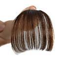billiga Syntetiska peruker utan hätta-Hårstycke Stilig Hårknut Sexig Lady Snörning Remy-hår Hårstycke HÅRFÖRLÄNGNING Stilig Mörkbrun / Medium Rödbrun / Mörk Rödbrun