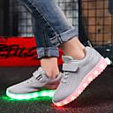 Χαμηλού Κόστους LED Παπούτσια-Αγορίστικα / Κοριτσίστικα LED / Φωτιζόμενα παπούτσια Πλεκτό Αθλητικά Παπούτσια Νήπιο (9m-4ys) / Τα μικρά παιδιά (4-7ys) / Μεγάλα παιδιά (7 ετών +) Περπάτημα LED Μαύρο / Μπλε / Ροζ Άνοιξη / Φθινόπωρο