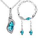 cheap Panties-Women's Jewelry Set Drop Sweet Fashion Earrings Jewelry Blue For Wedding Party