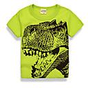 billige Topper til gutter-Baby Gutt Grunnleggende Daglig Ferie Trykt mønster Trykt mønster Kortermet Normal Bomull T-skjorte Grønn