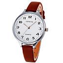 ราคาถูก นาฬิกาข้อมือแฟชั่น-สำหรับผู้หญิง นาฬิกาข้อมือ หนัง ดำ / สีขาว / น้ำตาล ปุ่มหมุนขนาดใหญ่ ระบบอนาล็อก สุภาพสตรี กำไล สง่างาม - สีชมพู ดำ / ขาว สีเขียวผลไม้ หนึ่งปี อายุการใช้งานแบตเตอรี่ / SSUO LR626