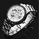 ราคาถูก วิกผมสังเคราะห์-ASJ สำหรับผู้ชาย นาฬิกาตกแต่งข้อมือ วิศวกรรมนาฬิกา ไขลานอัตโนมัติ สแตนเลส เงิน แกะสลักกลวง เท่ห์ ระบบอนาล็อก ความหรูหรา คลาสสิก - สีเงิน
