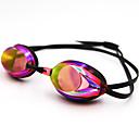 billiga Swim Goggles-Simglasögon Vattentät Simglasögon Anti-Dimma Spegel Silikon Polykarbonat Röd Blå Mörkblå Röd Blå Silver