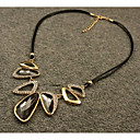 billiga Modehalsband-Kristall Hänge Halsband Elegant Legering Grå 45 cm Halsband Smycken Till Bröllop Kvällsfest