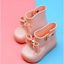 זול מגפיים לילדים-בנות מגפי גשם עור PVC מגפיים פעוט (9m-4ys) / ילדים קטנים (4-7) שחור / אדום / ורוד בהיר אביב קיץ