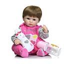 billige Reborn-dukker-NPKCOLLECTION NPK DOLL Reborn-dukker Girl Doll Babyjenter 16 tommers Full Body Silicone Silikon - Newborn liv som Nuttet Håndlaget Barnesikker Ikke Giftig Barne Unisex / Jente Leketøy Gave