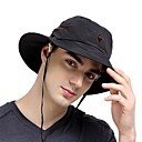 billiga Klädesaccessoarer-VEPEAL Vandringshatt Boonie hatt Hatt Bred kant Lättvikt Vindtät Solskyddskräm UV-resistent Lappverk Nät Mode POLY Chinlon Vår för Herr Dam Fiske Camping Klättring Svart / Andningsfunktion