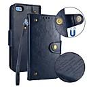billige Etuier/deksler til Huawei-Etui Til Huawei P10 Lite / P10 / Huawei P9 Lite Lommebok / Kortholder / Flipp Heldekkende etui Ensfarget Hard PU Leather