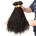 billiga Äkta peruker med hätta-3 paket Brasilianskt hår Kinky Curly Äkta hår Hårförlängningar av äkta hår 8-28 tum Naurlig färg Hårförlängning av äkta hår Förlängning Heta Försäljning Människohår förlängningar / 8A