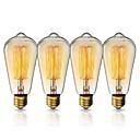 ราคาถูก หลอดไฟแบบไส้-KWB 1set 40W E26 / E27 ST64 สีเหลืองอุ่น 2200k วิวเมือง หลอดไฟ Vintage Edison รุ่น Exand 220-240V