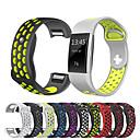 ราคาถูก วง Smartwatch-สายนาฬิกา สำหรับ Fitbit Charge 2 Fitbit สายยางสำหรับเส้นกีฬา ยางทำจากซิลิคอน สายห้อยข้อมือ