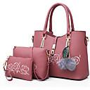 Χαμηλού Κόστους Σετ τσάντες-Γυναικεία Φτερά / Γούνα PU Σετ τσάντα Τσάντα Σετ 3 σετ Σετ τσαντών Μαύρο / Ανθισμένο Ροζ / Θαλασσί