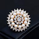 povoljno Značke i broševi-Žene Broševi Cvijet Europska Moda Biseri Broš Jewelry Zlato Pink Za Vjenčanje Dnevno