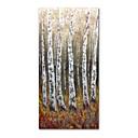 Χαμηλού Κόστους Πίνακες με Λουλούδια/Φυτά-Hang-ζωγραφισμένα ελαιογραφία Ζωγραφισμένα στο χέρι - Αφηρημένο Τοπίο Σύγχρονο Μοντέρνα Περιλαμβάνει εσωτερικό πλαίσιο / Επενδυμένο καμβά